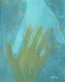 My ancester's hand on mine - A series #4