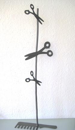Friseur-Skulptur