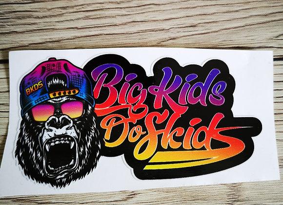 Gorilla Fade Sticker