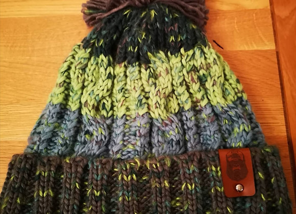 Electric Gray Bobble Hat