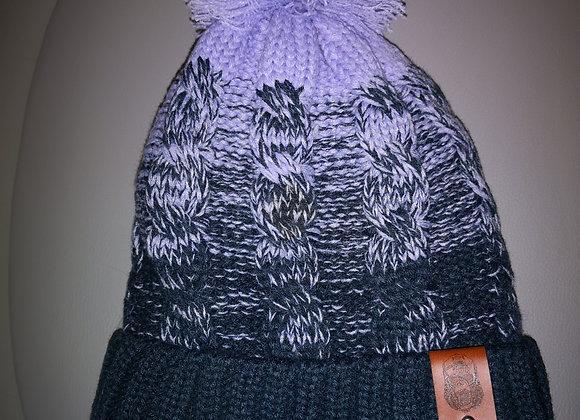 Lavender/Navy Bobble Hat