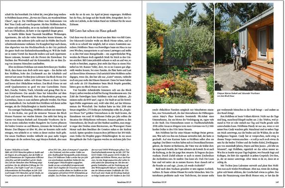 Rex Hohlbein / Facing Homelessness / Brand Eins Magazine