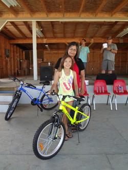 Youth bike winner