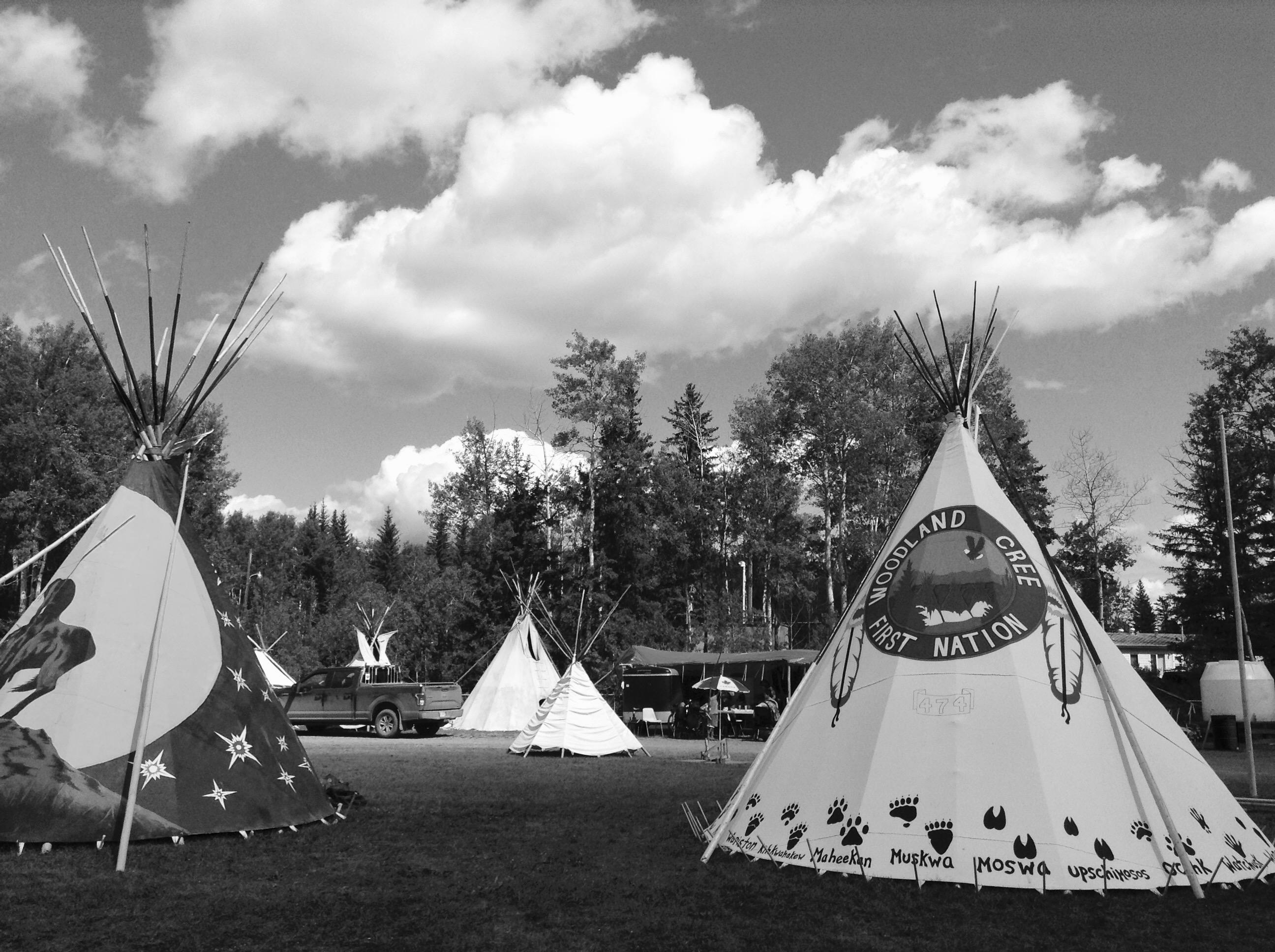 Tipi's set up for Treaty 8 Gathering