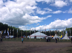 Flags for the gathering