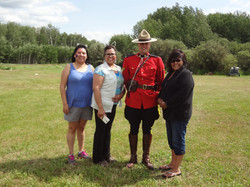 RCMP with staff