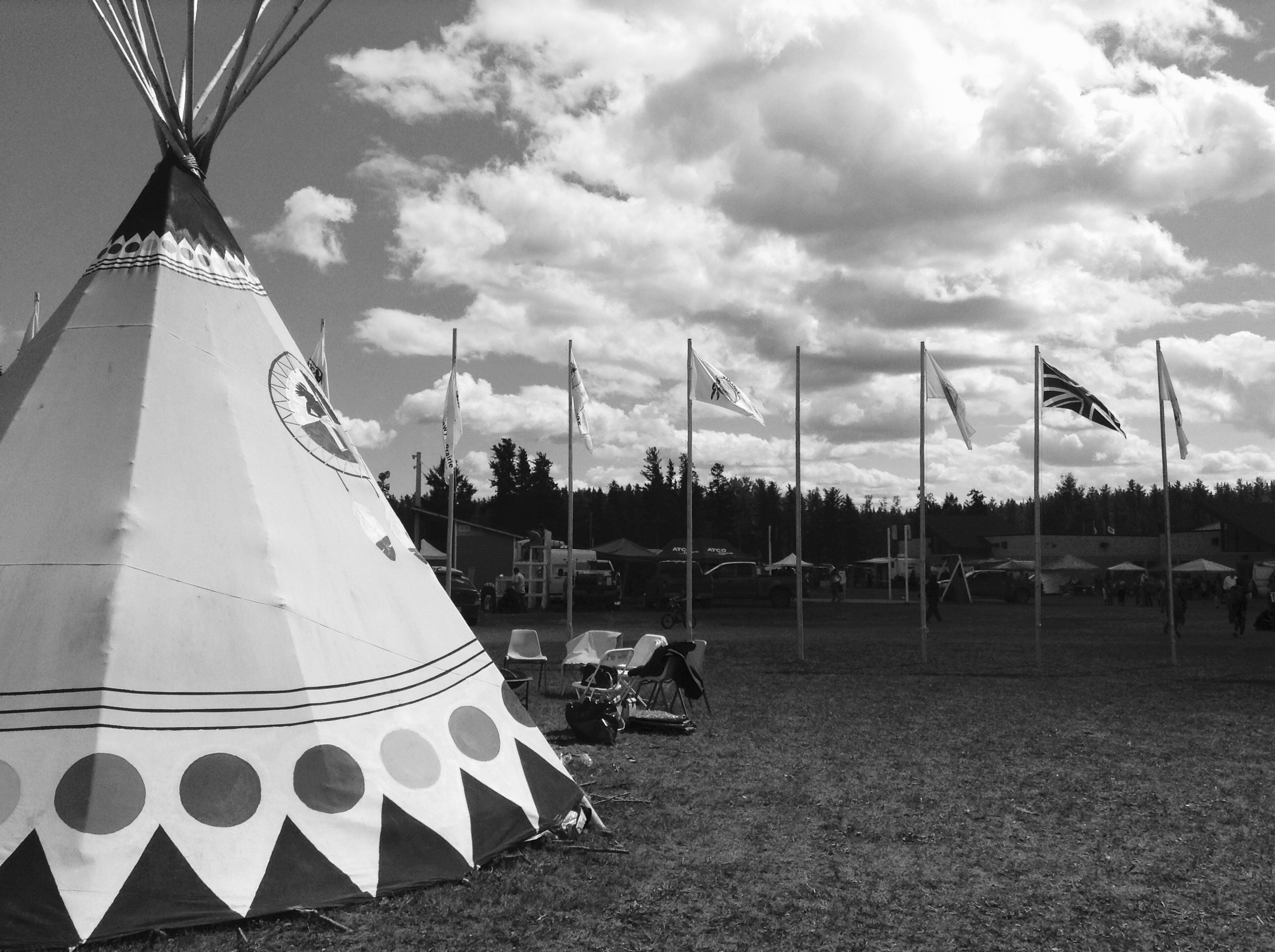 Tipi and flags