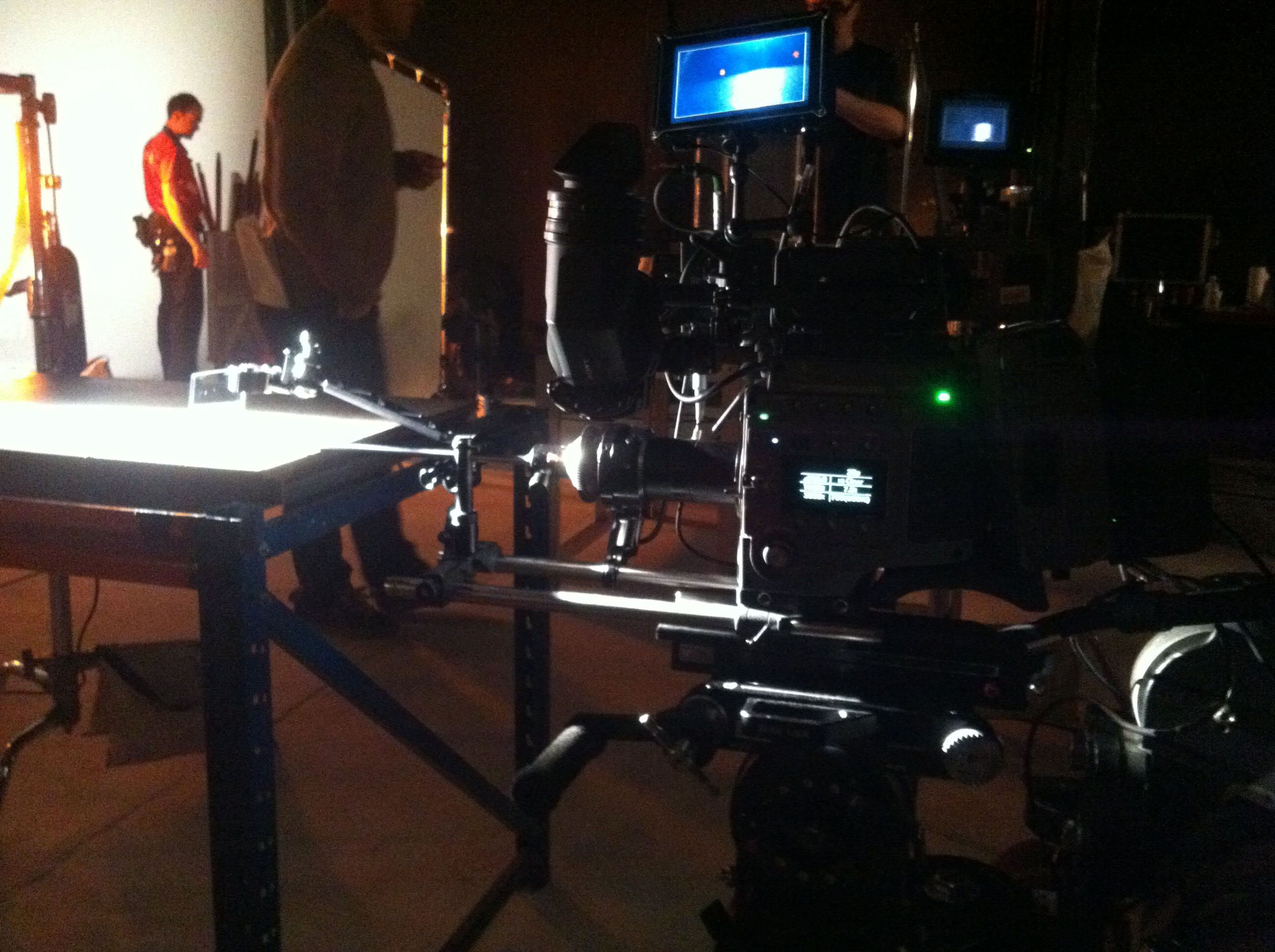 BFC Microlens on set