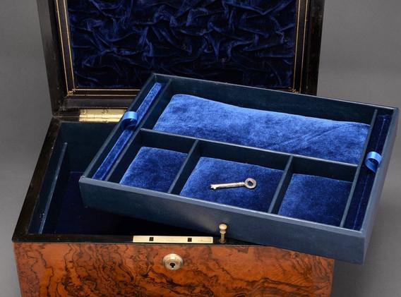Walnut Jewellery Box Interior
