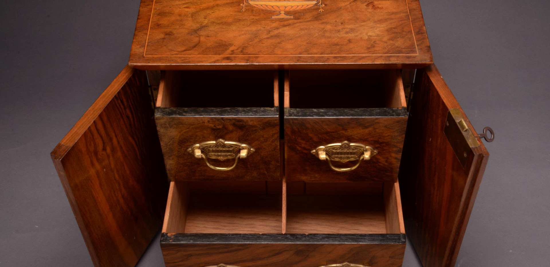 Walnut Inlaid Cabinet