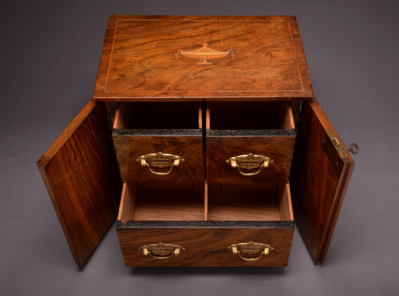 Walnut Inlaid Cabinet