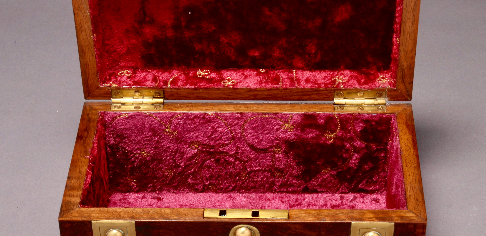 Burr Walnut Box Interior