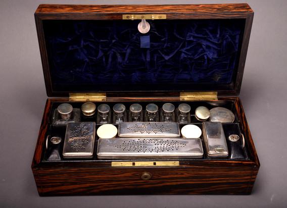 Early Victorian coromandel vanity box.