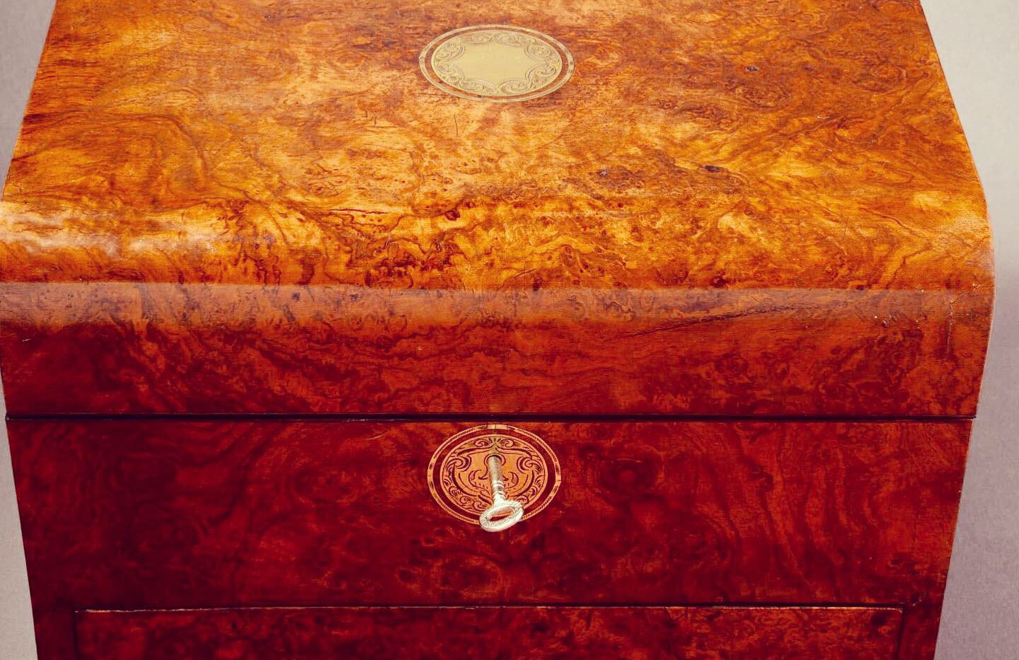 Burr Walnut Vanity Box