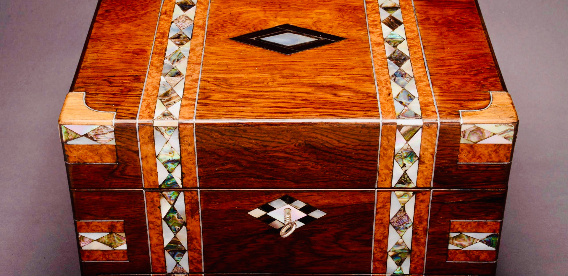 Rosewood Inlaid Box