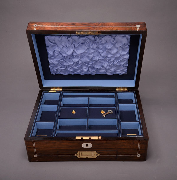 William IV rosewood and mop inlaid ladie
