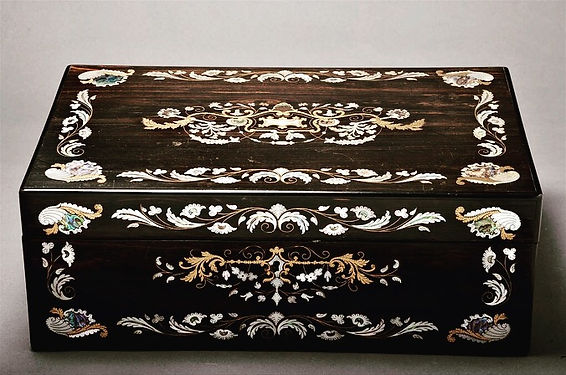 Victorian Inlaid Writing Slope