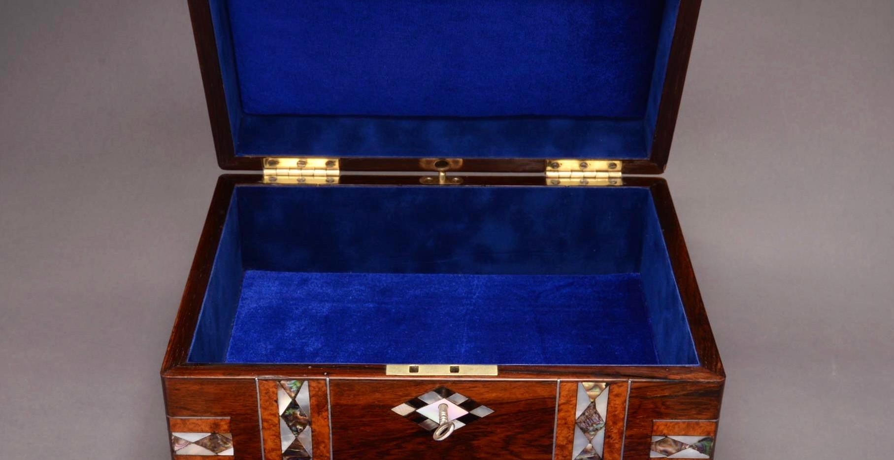Inlaid rosewood box