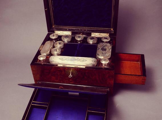 Burr Walnut Vanity Box