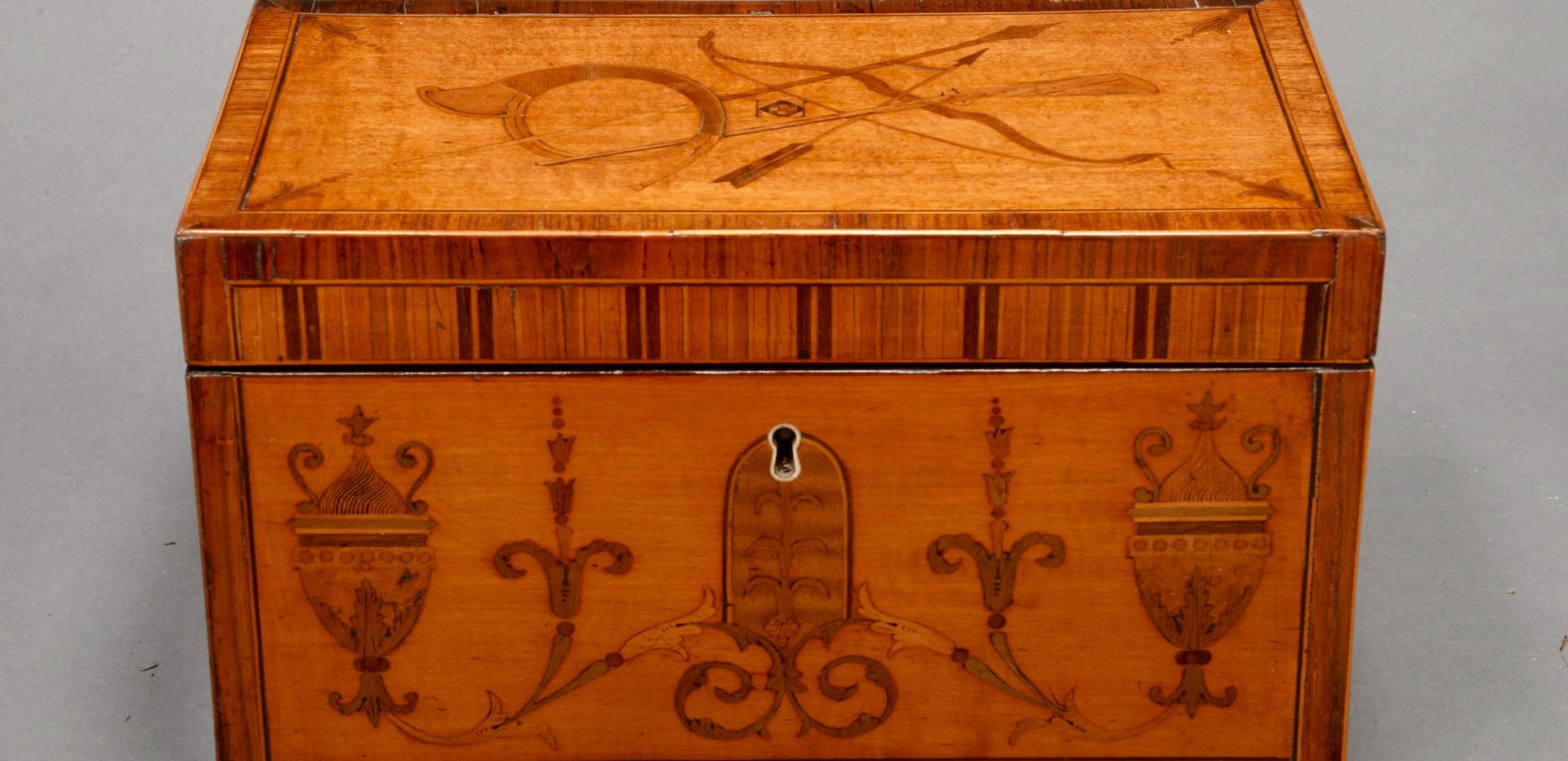 satinwood tea caddy