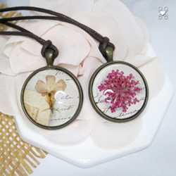 Flower-Pressed Necklaces