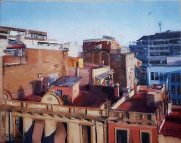 Rooftop view Barcelona 2020.