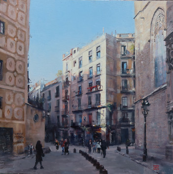 Afternoon light in Barcelona.