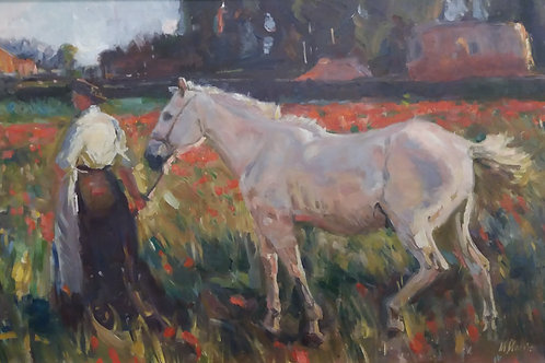 """""""Poppy field"""" after sir Alfred Munnings"""