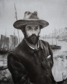 Sir Walter Langley - Charcoal 400 x 300mm - Self portrait after Sir Walter Langley