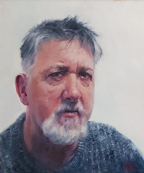 Portrait of artist brother Mark - Winner of SAA Professional Artist of the year 2020