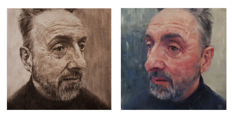 """Self Reflection """"Diptych"""