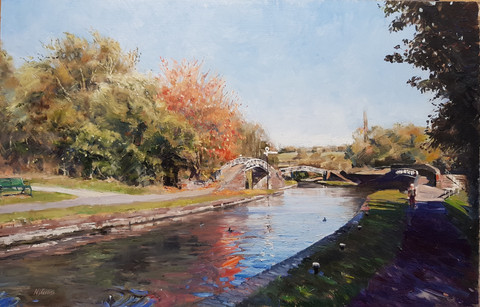 Netherton canal in Autumn