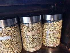 焙煎前のコーヒー