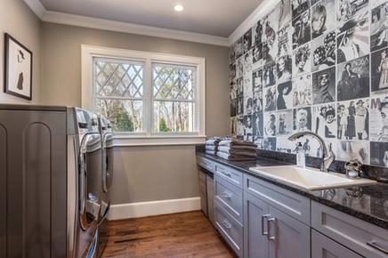 a high-fashion laundry room
