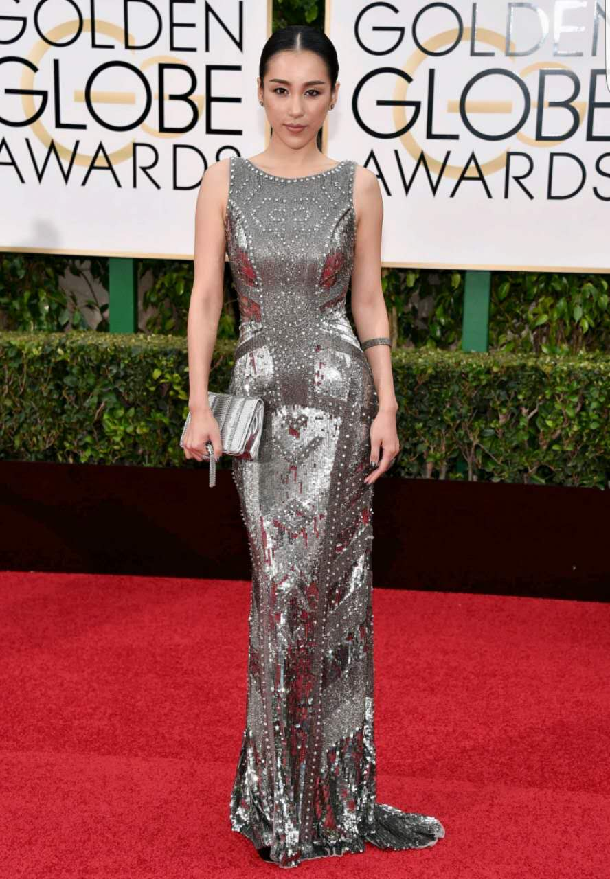 Jane Wu at the Golden Globes 2016
