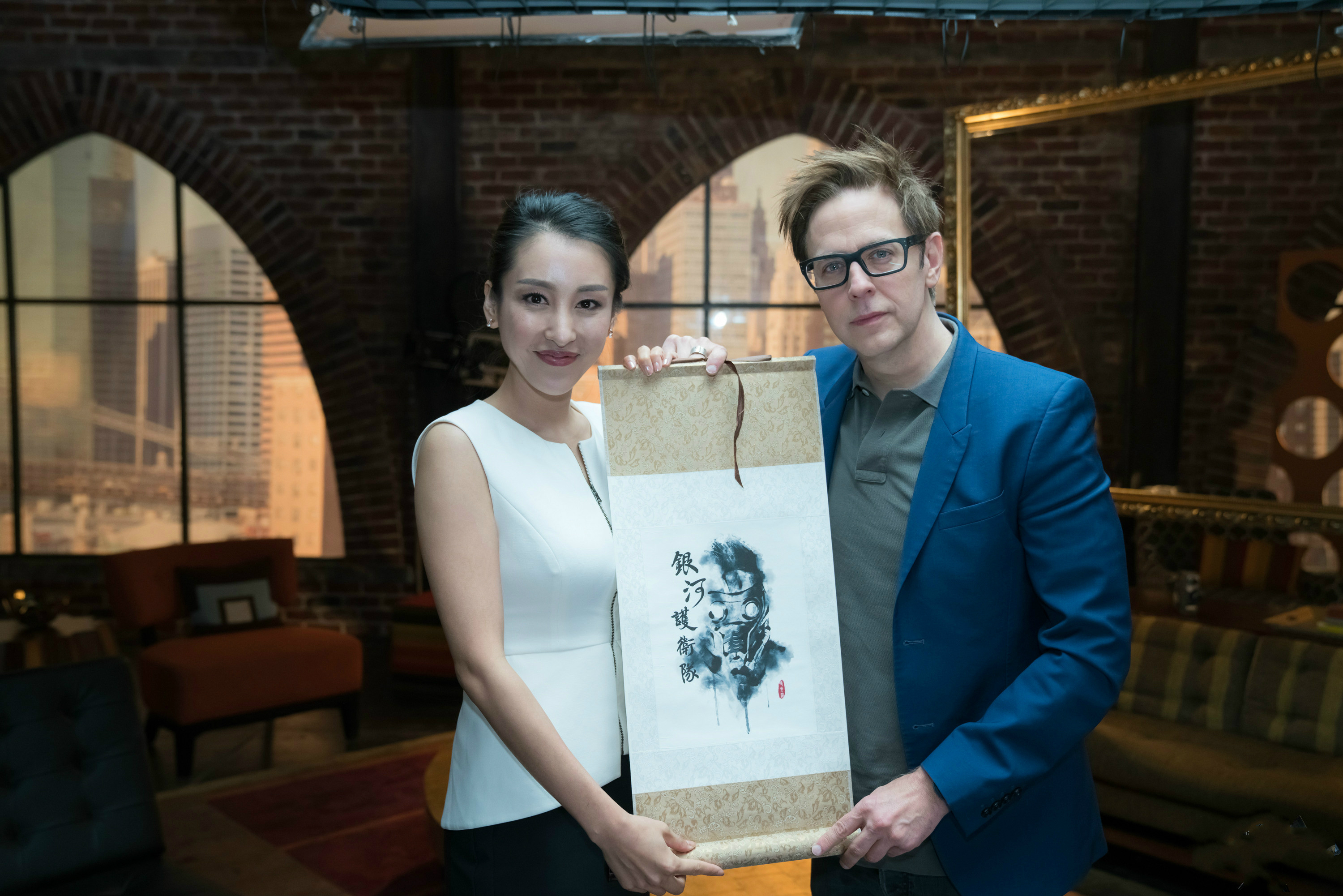 Jane Wu with James Gunn
