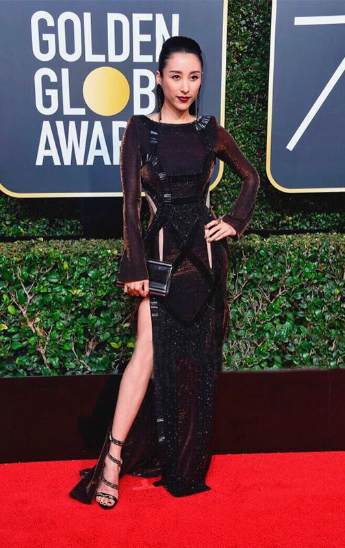 Jane Wu at the Golden Globes 2018