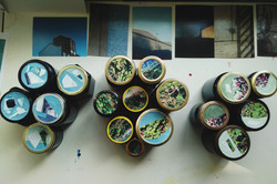 Collaged lids