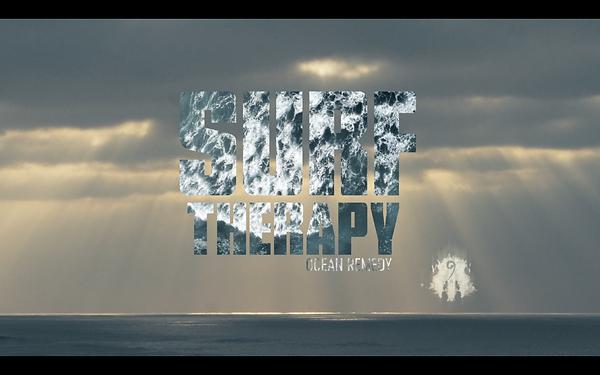 """Panneau titre """"Surf Therapy"""""""