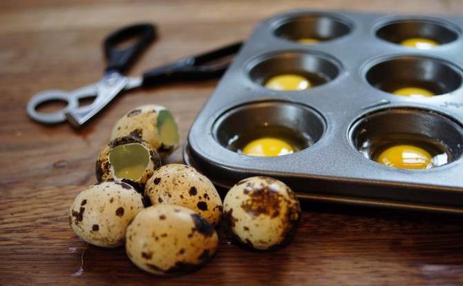 Easy Oven Poached Forrest Farm Quail Eggs