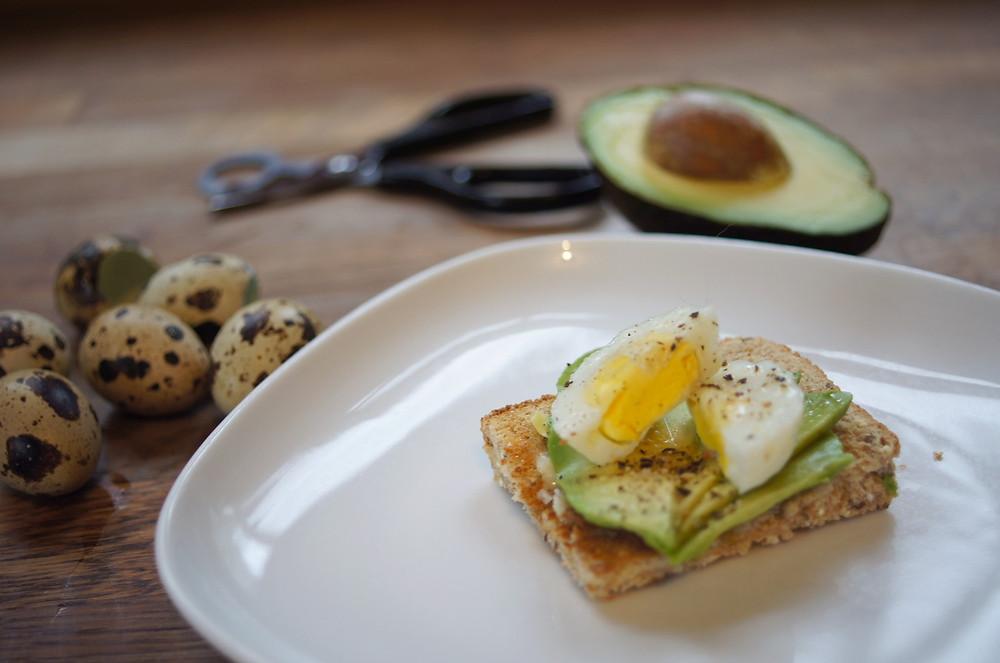 Forrest Farm Quail Eggs on Avocado Toast