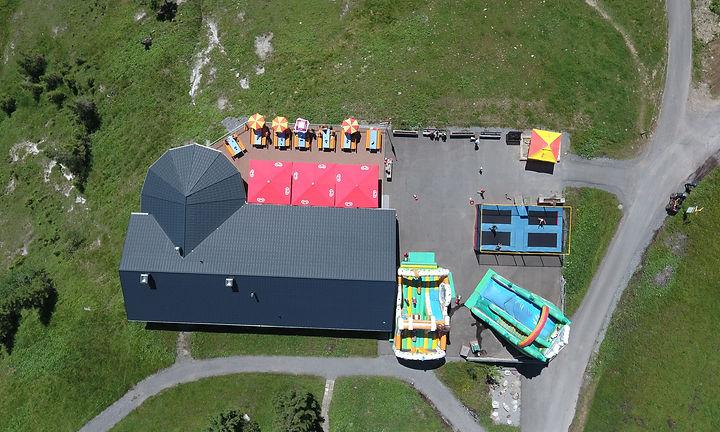 Luftbild mit Anfahrt Fuederegg