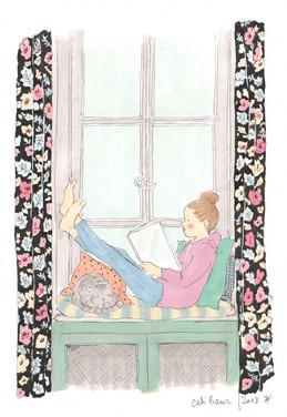 Lectrice à la fenêtre