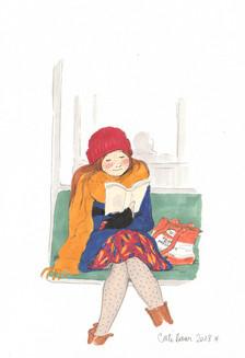 Lectrice du métro