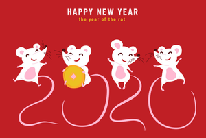 The year of the metal rat, white rat, lunar new year, chinese new year