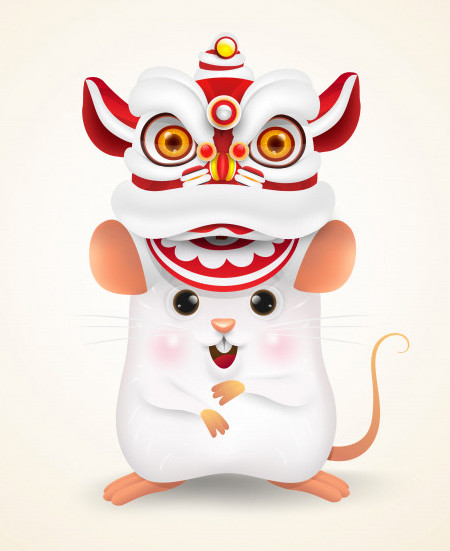 the year of the white rat, new 2020 year, white metal rat, lunar new year, chinese new year