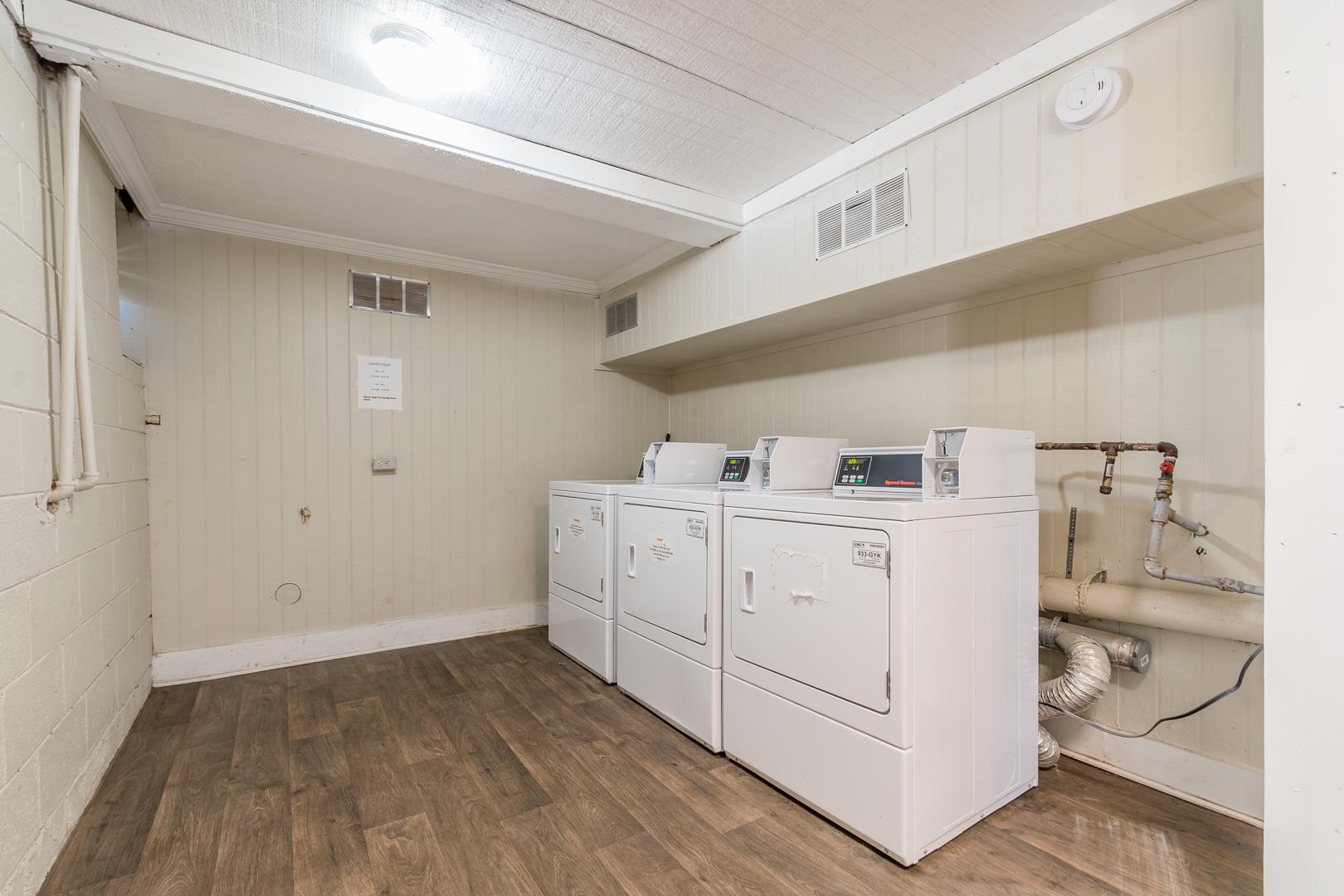 Newly Renovated Laundry Facility