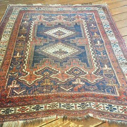 Antique rug 4.2 x 3.7
