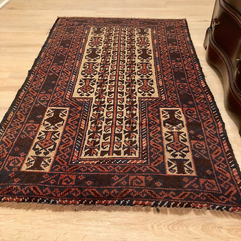 Antique old small rug 4 x 3