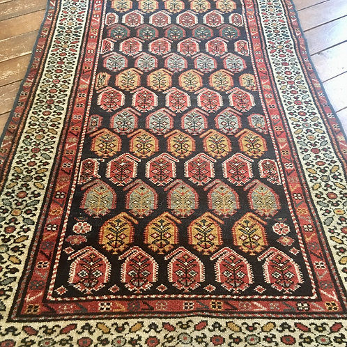 Antique rug 10.5 x 3.5